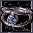Sterling Silver and Genuine Sky Blue Topaz 'Iris' Ring Image