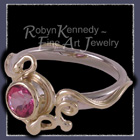 18 Karat Yellow and White Gold, Mystic Pink Topaz 'Pink Shock' Ring Image