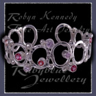 Sterling Silver, Multi Pink Topaz's and Lavendar Cubic Zirconia's 'Pretty in Pink' Bracelet Image