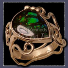 14 Karat Ye;;ow Gold and Ammolite 'Sindy' Ring Image
