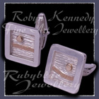 10 Karat Yellow Gold and Sterling Silver 'Sunrise ~ Sunset' Cufflinks Image