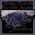 14 Karat Yellow Gold, Sterling Silver and Blue Lace Agate 'Sunset Beach' Brooch Image
