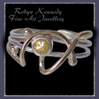 14 Karat Yellow Gold, Sterling Silver and Genuine Yellow Sapphire 'Sunshine' Ring Image