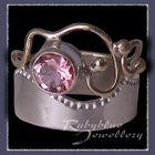 10 Karat Yellow Gold, Sterling Silver and Baby Pink Topaz 'Twilight' Ring Image