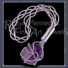 Sterling Silver and Amethyst 'Whisper' Brooch Image