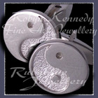 Sterling Silver and Sterlium Silver 'Yin~Yang' Cufflinks Image
