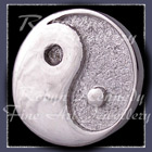 Sterling Silver and Sterlium Silver 'Yin~Yang' Lapel Pin Image