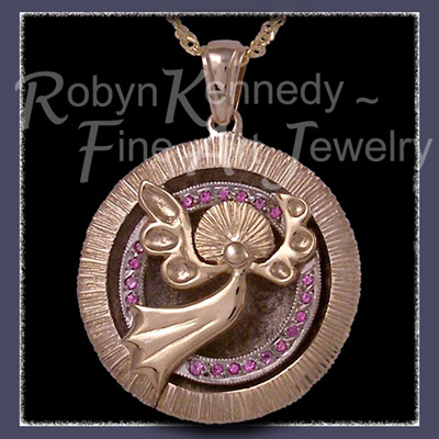14 Karat Yellow Gold 'You Mean The World To Me' Pendant Image