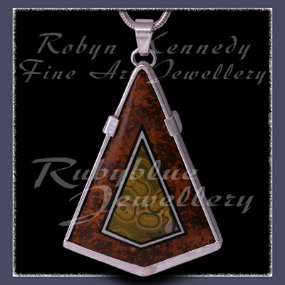 Sterling Silver and Intarsia Pendant Image