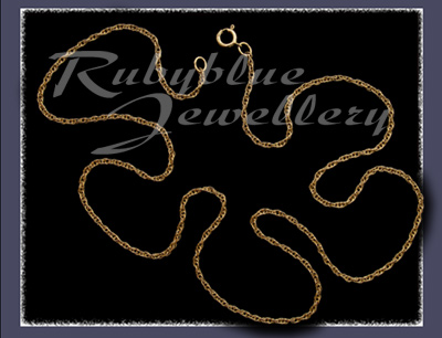Solid Gold Rope Chain Image