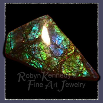 Genuine Canadian Freeform Gemstone Ammolite Image