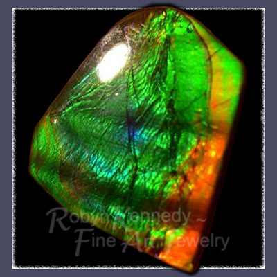 Genuine, One of a Kind Free Form Alberta Ammolite Gemstone Image