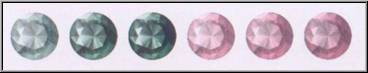Colors of Alexandrite gemstones Image