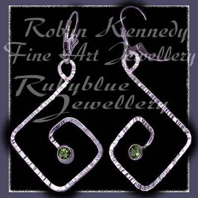 Sterling Silver and Peridot 'Coronet' Earrings Image