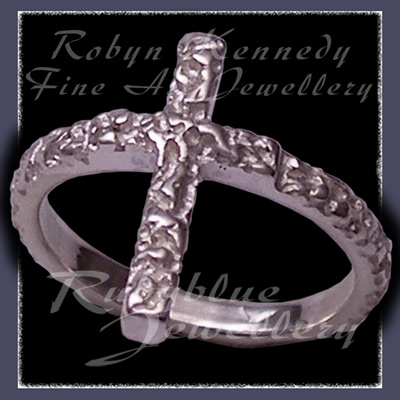 Sterling Silver 'Cross' Ring Image
