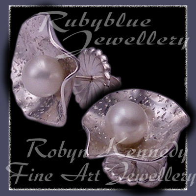 Sterling Silver and Cultured Pearl 'Felicity' Earrings Image