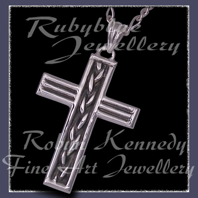 Sterling Silver 'Marz' Cross Pendant Image