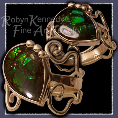 14 Karat Yellow Gold and Ammolite 'Sindy' Ring Image