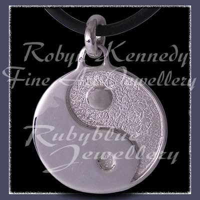 Sterling Silver and Sterlium Silver 'Yin ~ Yang' Pendant Image