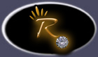 Rubyblue Jewelry Glowing R and Diamond Logo Image